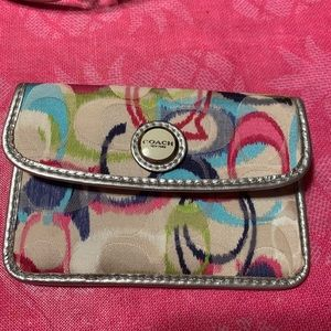 Coach coin/id small purse